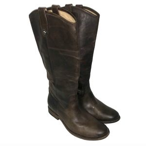 Frye Button Melissa Slate 8.5 Extended Calf Boots